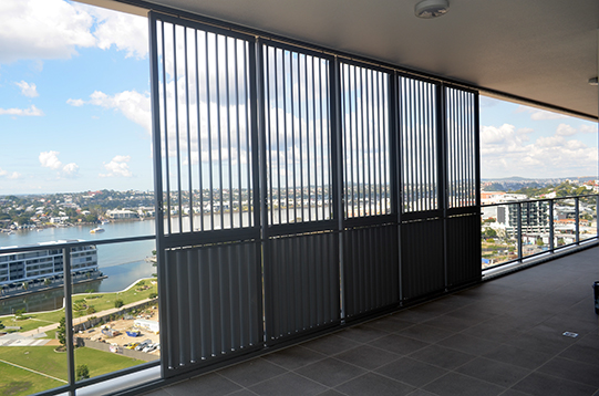 Aluminium Balustrades Mirvac Project 2 - KRYPTON LOUVRE SYSTEM