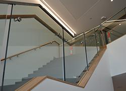 Aluminium Balustrades Infinity Suite at Bond Uni - Timber look aluminium - a feature at Bond University