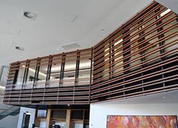 Aluminium Balustrades Timber look aluminium at Bond Uni - Timber look aluminium - a feature at Bond University