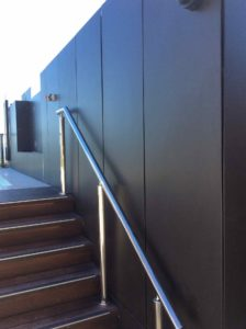 Aluminium Balustrades Wall Cladding 224x300 - Structural Glass Wind Barriers and Seaview Balustrade System for a Luxury Apartment Building