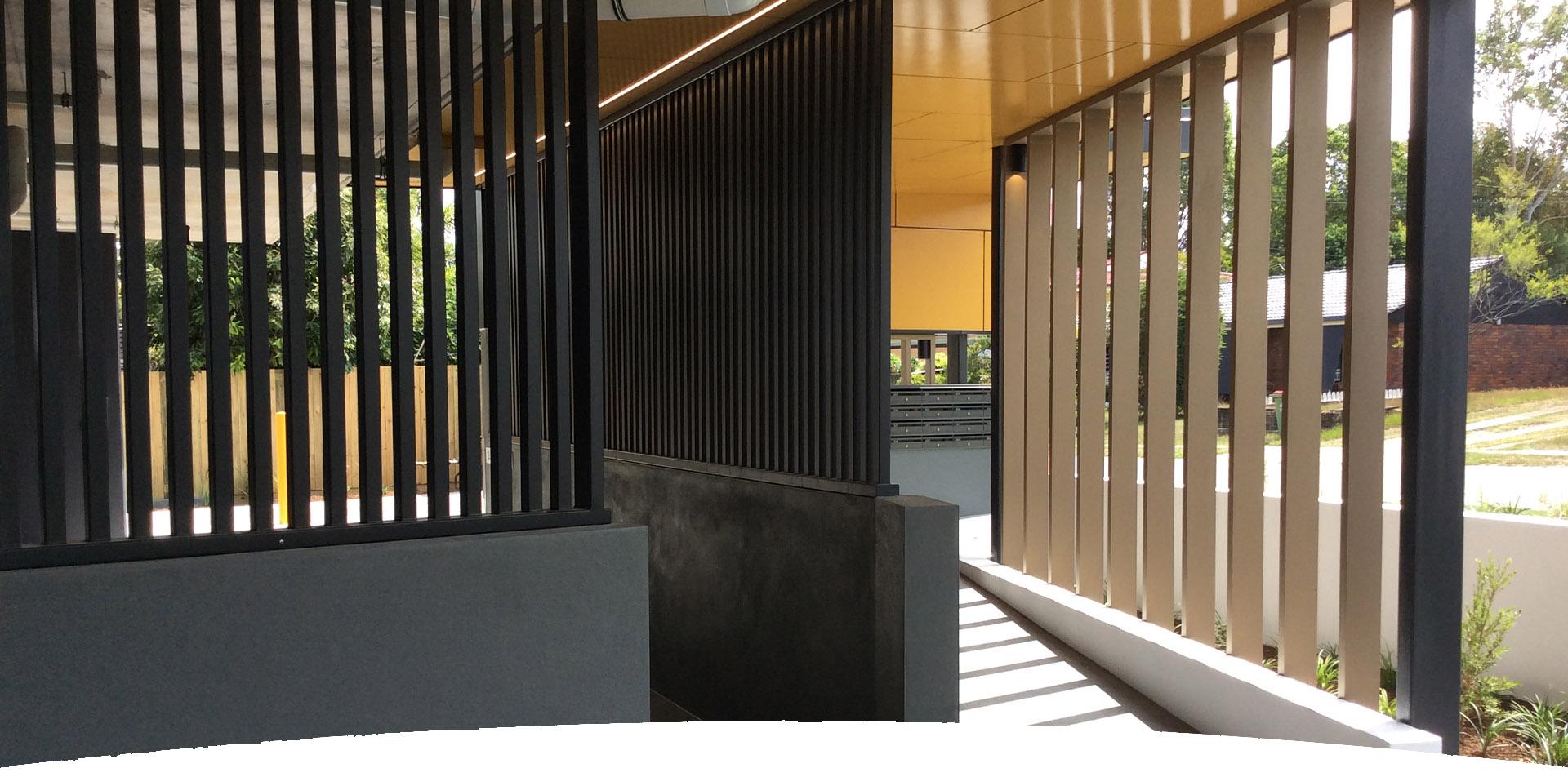 Aluminium Balustrades Facades McNab Project Springwood - Facades Featured At McNab Project At Springwood